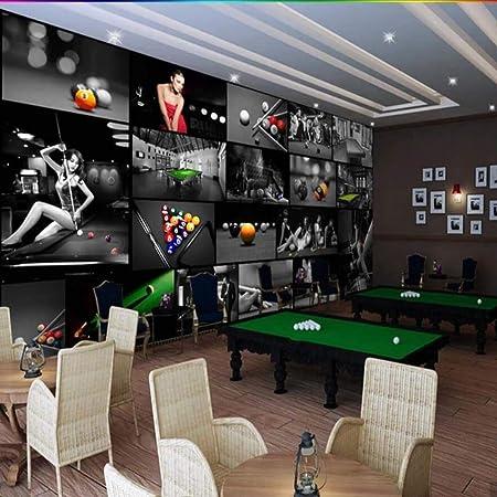 CHTTERY Sala de billar europea Sala de tenis de mesa Papel tapiz ...