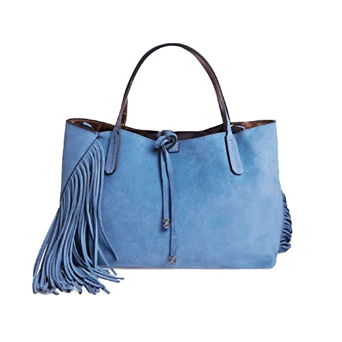 Gianni CHIARINI Shopping bag - borsa a mano Ray Fringes Medium (Niagara) f55594ce32b