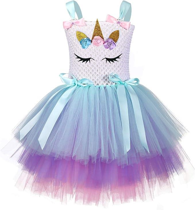 yeesn Disfraz de Unicornio para niñas, Disfraz de Princesa ...