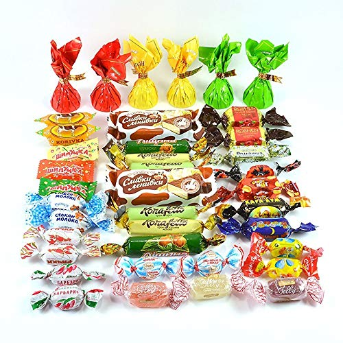 - Premium Ukrainian Assorted Candy Mix from Roshen {Up To 40 Different Types of Candy} (1Lb)
