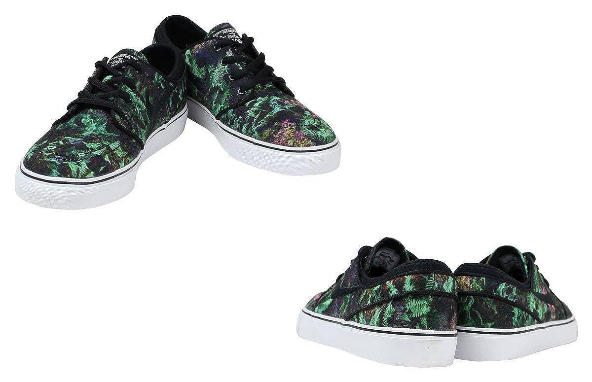 Nike Kids Stefan Janoski Premium Canvas Fern Edition Shoes 4Y M US Green Black