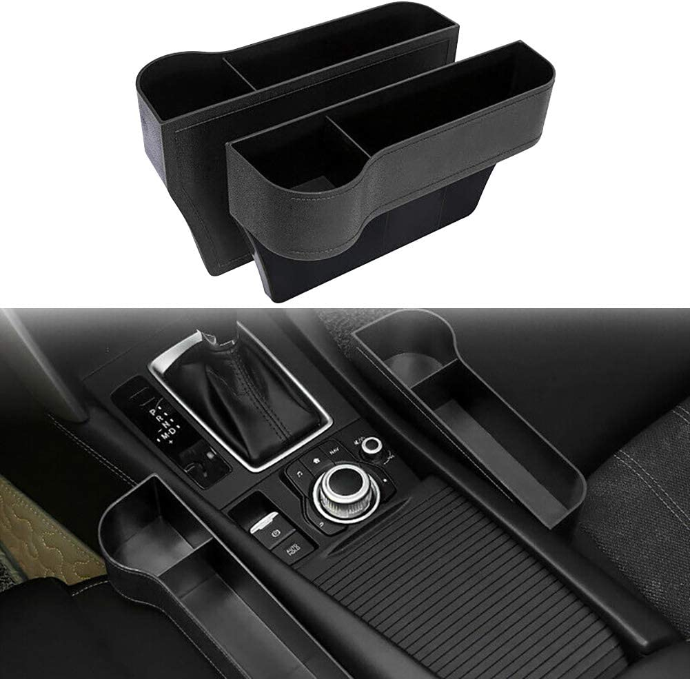 Scelet Aufbewahrungsbox F/ür Autositz Catcher Gap Cup Handyhalter Fall Container Organizer Autositz Spalt Aufbewahrungsbox f/ür Getr/änkeflasche Stift Telefon