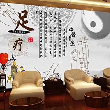 Chinese Medicine Health Museum Wallpaper Steaming Foot Massage Shop Beauty Shop Background Wall Massage Massage Shop 3d Decorative Wallpaper Mural 200cmx140cm Amazon Com
