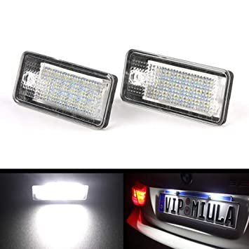 Kalttoy 2 piezas Blanco 18 LED 3528 SMD luces de matrícula para Audi A3 8P A6 4F: Amazon.es: Hogar
