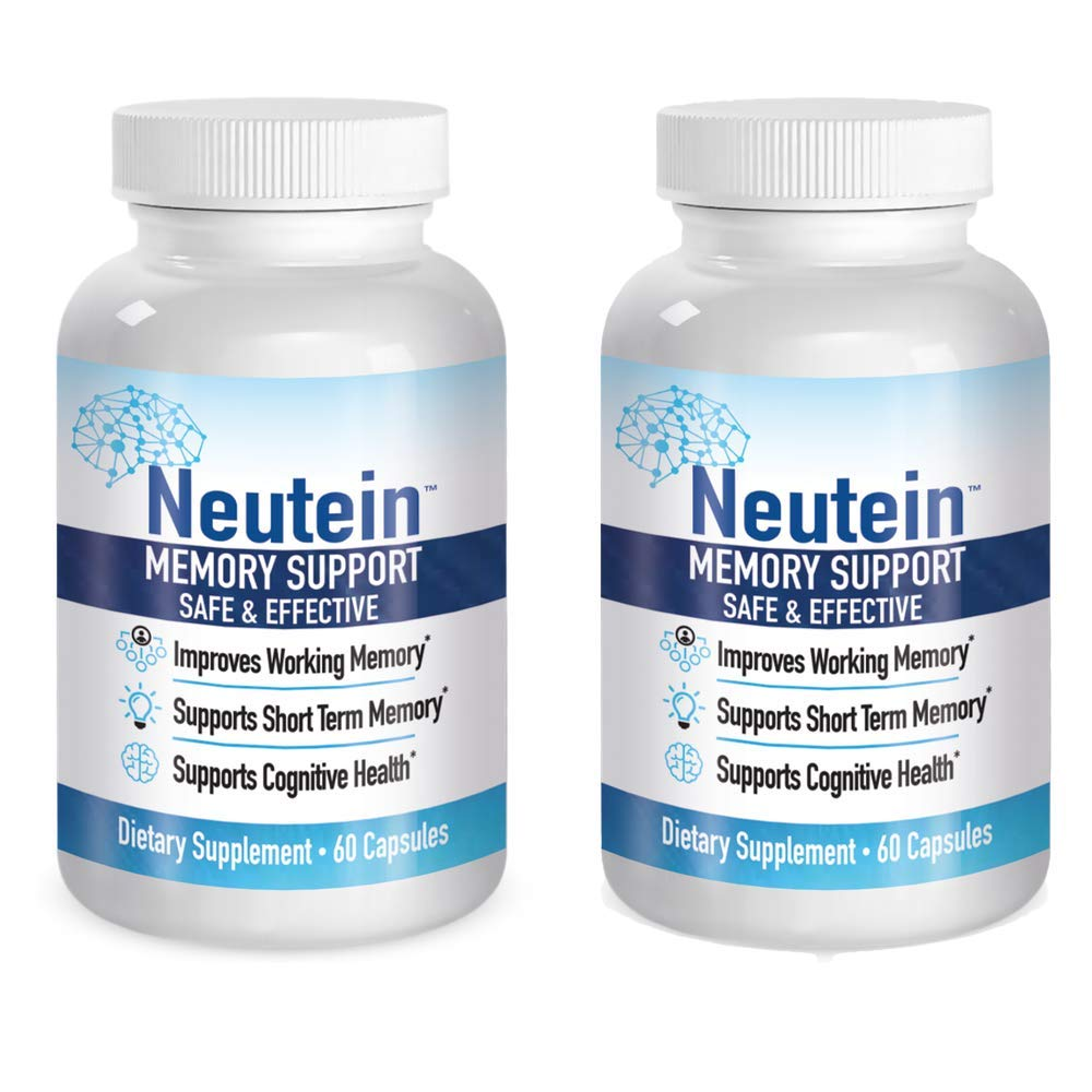 Neutein Naturally Improve Attention and Working Memory. Supports Short Term Memory – PhD Formulated Cognitive Health Support (Pack of 2)
