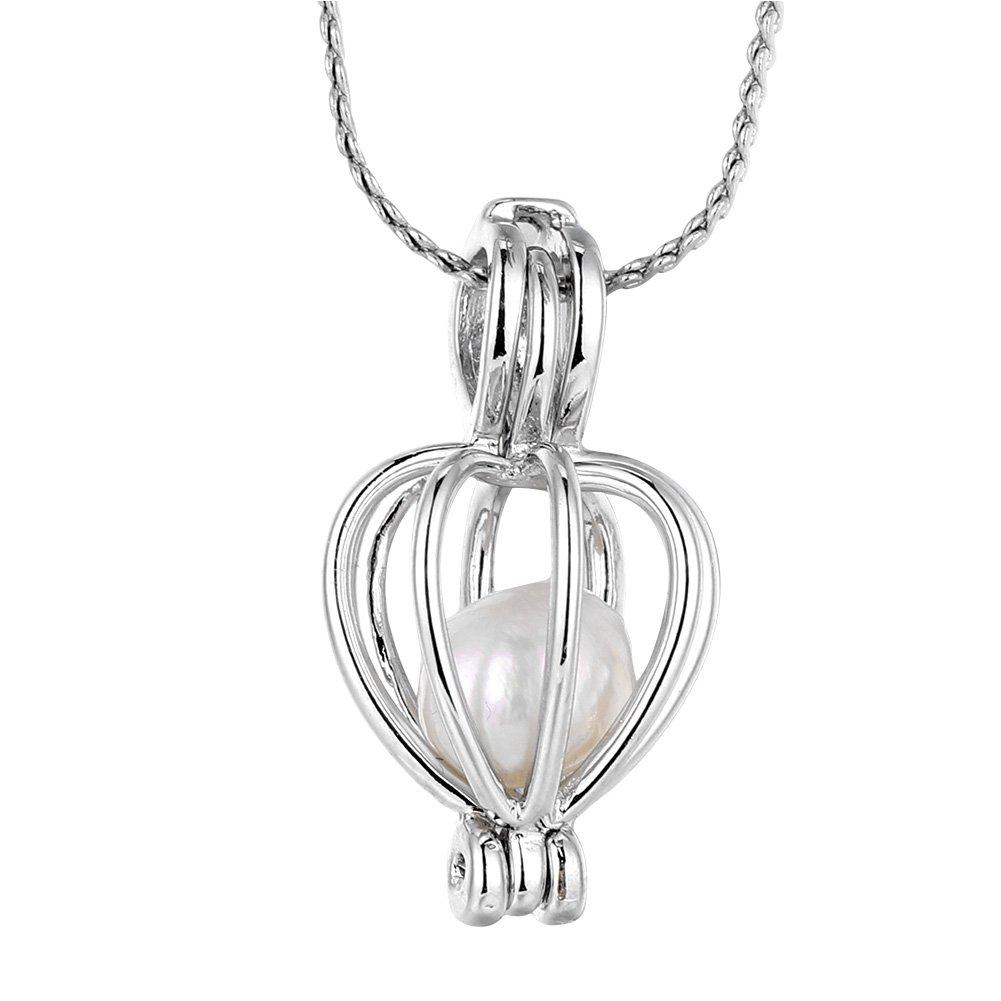 Collana di perle fai da te, squisita perla artificiale fai da te perlina ciondolo collana placcatura in rame collana kit gioielli GLOGLOW