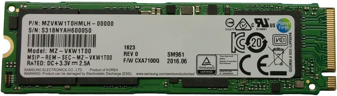 Samsung SM961 256GB NVMe** SSD 256G M.2 2280 PCIe PCI-Express 3.0 MZVPW256HEGL