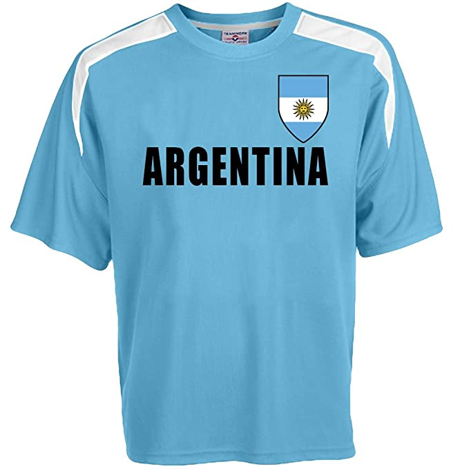 b8c72df3a Amazon.com  Custom Argentina Soccer Jersey Personalized with Your Names and  Numbers  Clothing