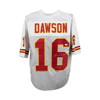b1ecc9e53 Image Unavailable. Image not available for. Color  Len Dawson HOF  Autographed Kansas City Chiefs Custom Football Jersey ...