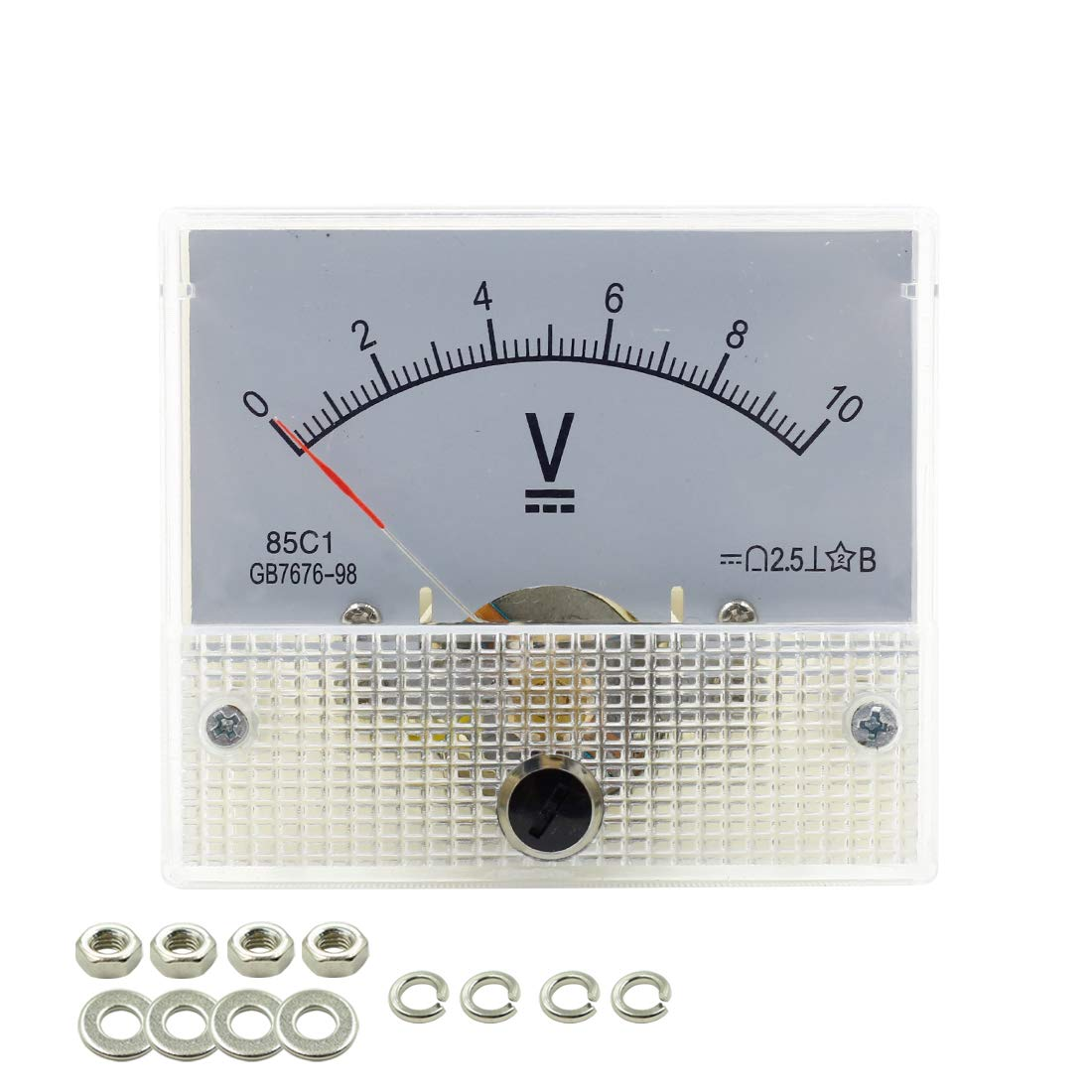 BokWin DC 0-10V 85C1 Analog Panel Voltage Gauge Volt Meter 2.5/% Error Margin 1 Pc