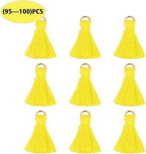 Wholesale 100PCS 0.5 Mini Soft White Thread Tassel Charm Tiny Handmade Cotton Tassel Bulk for Craft and Jewelry Making