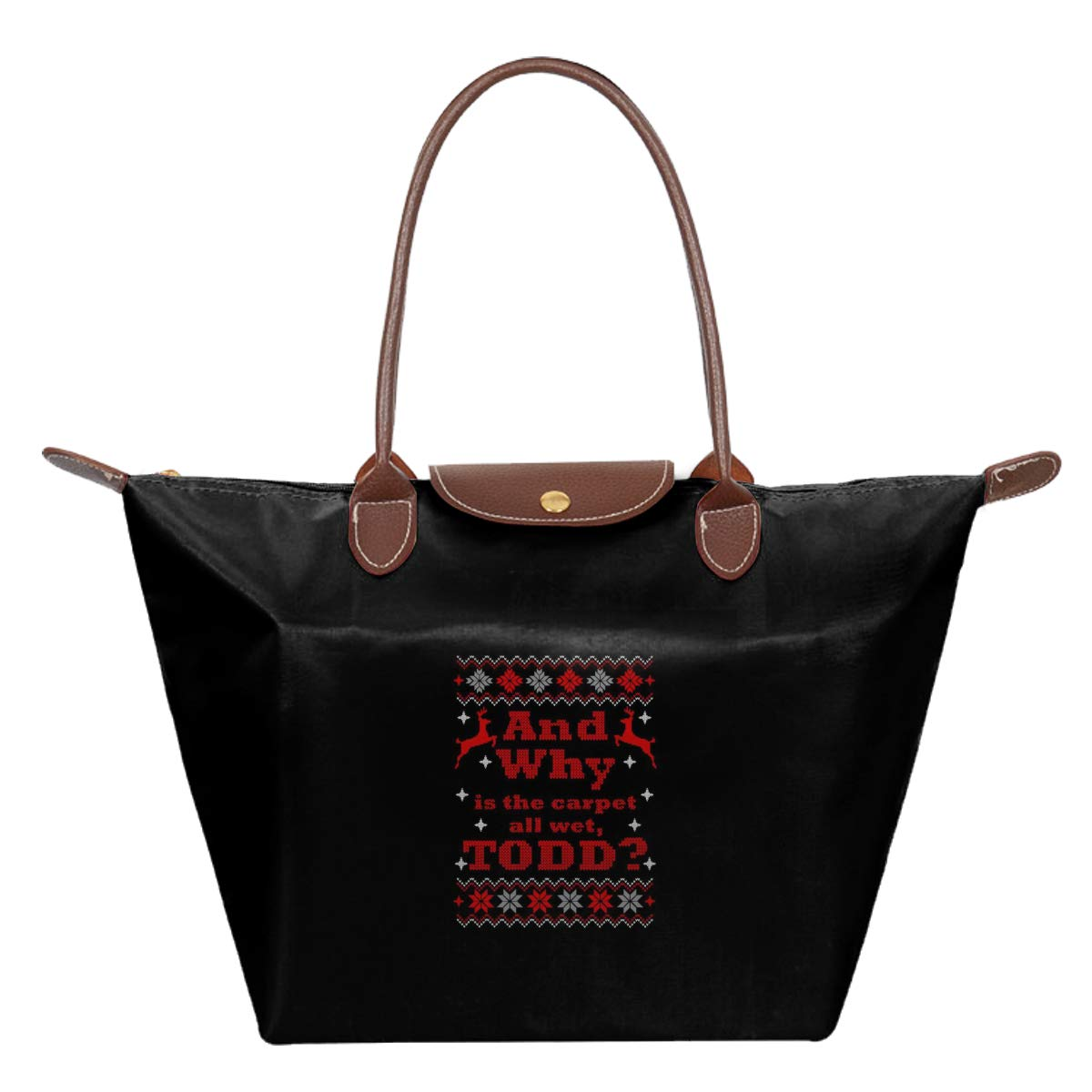 And Why Is The Carpet Wet Todd Christmas Vacation Waterproof Leather Folded Messenger Nylon Bag Travel Tote Hopping Folding School Handbags