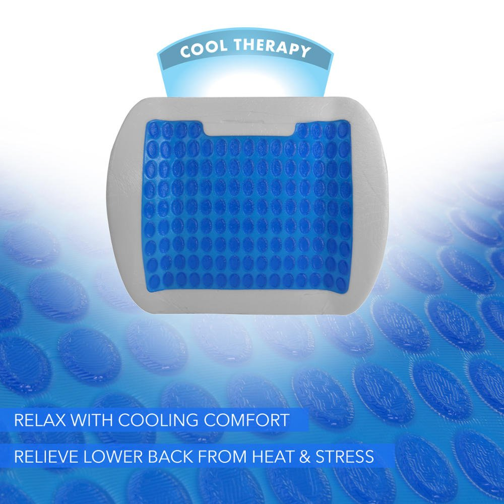 Combo Pack BDK ACDelco Cool-Therapy Cooling Gel Seat Cushion Premium Memory Foam