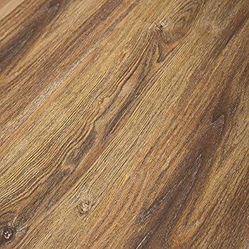 Timeless Designs Wirebrushed Gunstock 12mm Laminate Flooring With
