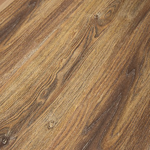 (Timeless Designs Wirebrushed Gunstock 12mm Laminate Flooring with 2mm Attached Foam Backing CS13014 SAMPLE)