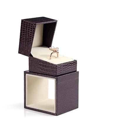 caja de anillo de boda de joyería exquisita/PUCuero collar colgante joyas caja de almacenamiento