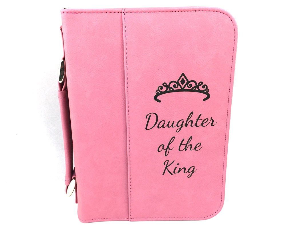 Daughter of the King Pink Bible Cover - Imitation Leather