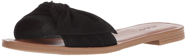 ALDO Women's Enroelia Slide Sandal B0791T74FJ 10 B(M) US|Black Nubuck