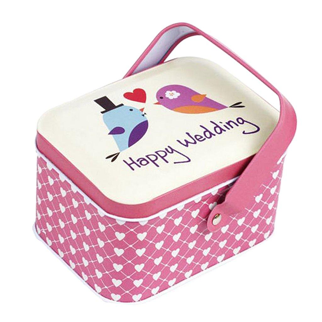 Colorful Baoblaze Retro Tinplate Jewelry Tea Candy Gift Box Storage Jars With Lid Handle Tea Coffee Candy Case