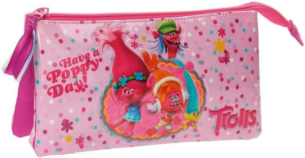 Trolls Happy Neceser de Viaje, 22 cm, 1.32 litros, Rosa: Amazon.es: Equipaje