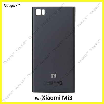 low priced f80f0 fb172 Voopick . Xiaomi Mi3 Back Panel Battery Door Back Cover Replacement Housing  Premium Finish. (BLACK COLOR)