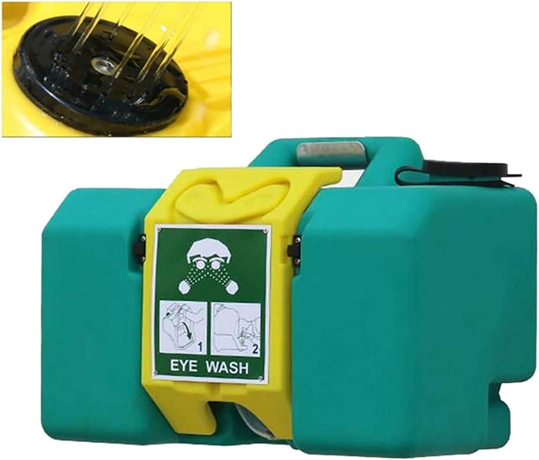 HHYGR Lavaojos de Emergencia portátil Lavaojos portátil de Pared de 8 galones (aditivo de esterilización no Incluido)