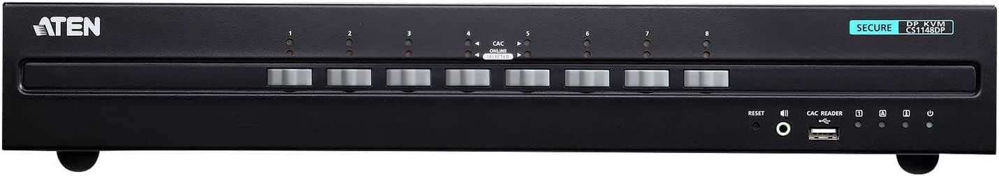 ATEN Technology CS1148DP Aten 8-Port USB DisplayPort Dual Secure KVM Switch (PSS PP v3.0 Compliant)