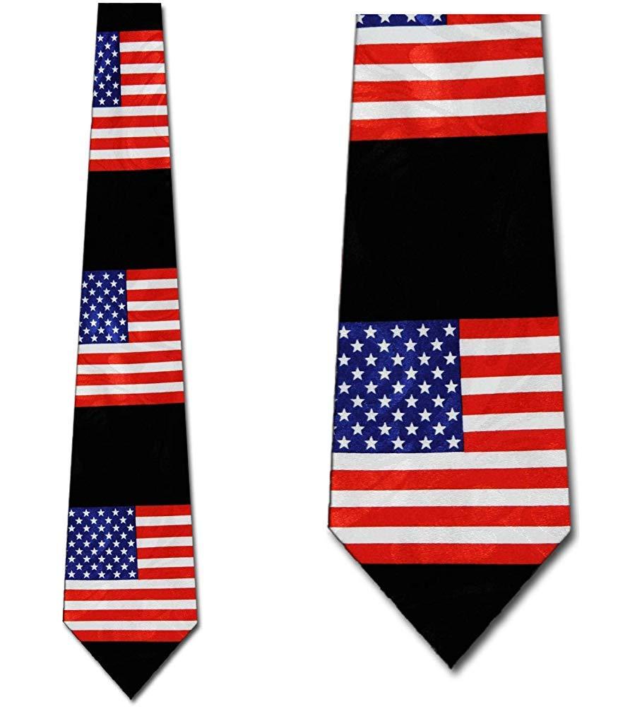 Corbata Para Hombre Corbata,Corbata Big Flags (Negro) Corbata Para ...