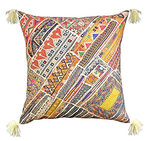 (YoTreasure Ethnic Tribal Rug Throw Pillow Poly Filled Outdoor Sofa Accent Couch, 20