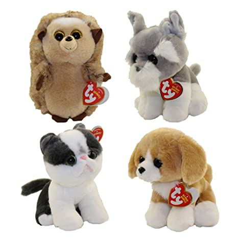 37800d33c0a Amazon.com  TY Beanie Babies - SET of 4 SPRING 2017 Releases (6 inch ...