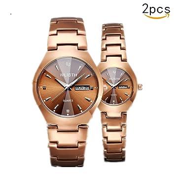 ... Pareja Estudiante Reloj Hombres Relojes de Cuarzo Reloj Femenino Reloj de Pareja Compre uno y llévese Otro Gratis Puntero Redondo: Amazon.es: Hogar