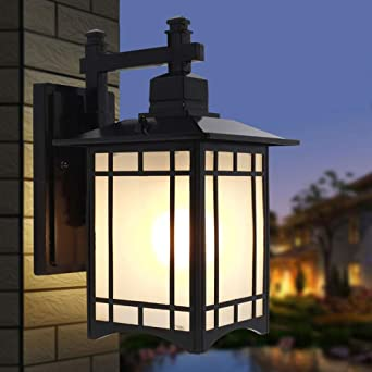 Lyuez Luz de Pared Exterior Europea LED Luz de Calle Exterior Impermeable Europea Luces de jardín Creativas Escaleras de balcón Americanas Luces de Pared Lámpara Colgante de Cobre Rojo: Amazon.es: Iluminación