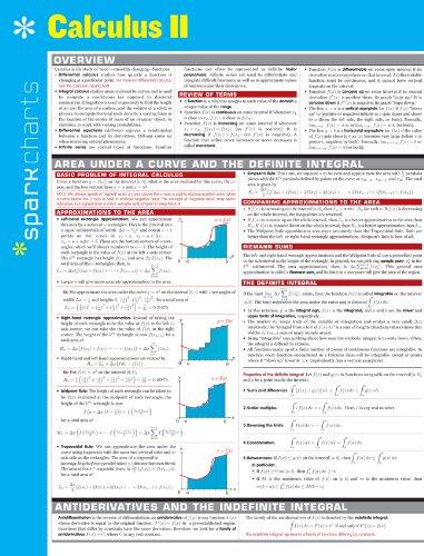 Calculus II (Sparkcharts)