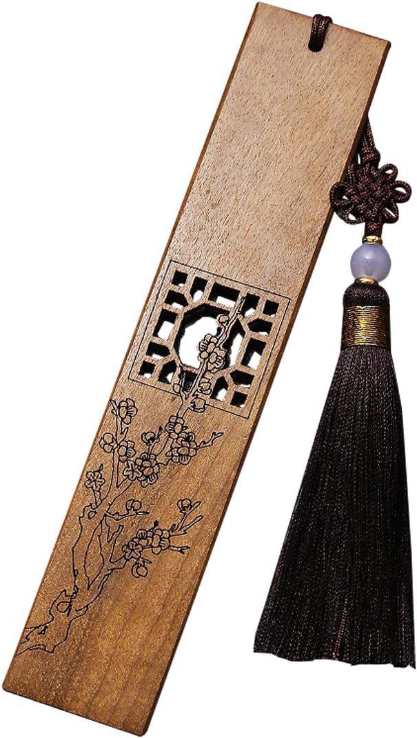 4pcs Lavorato Segnalibri Crisantemo di bamb/ù di prugna orchidea fatto di segnalibri in legno massello per donna uomo e bambino