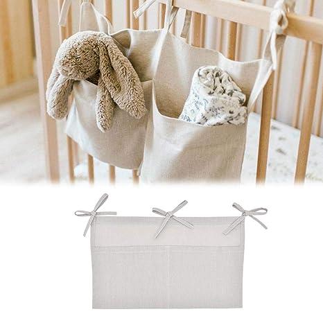 organizador de cuna de bebé, Bolsa para colgar de almacenamiento ...