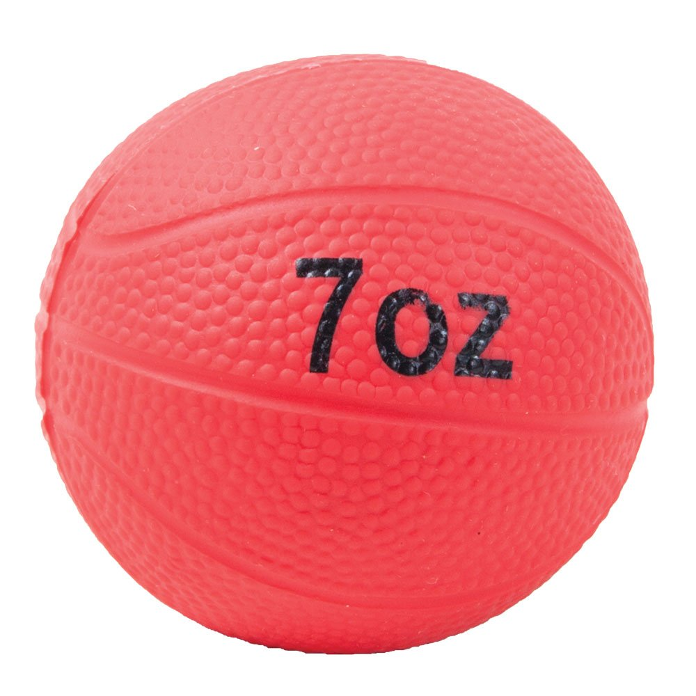 Power Systems Power Throw-Ball, Baseball Size Weighted Medicine Ball, 7 Ounce, Red (26007)