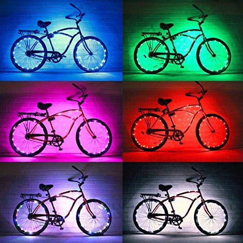Bike Wheel / Lights (2 PACK)- Colorful Light Accessory For Bike - Perfect For Burning Man / Festivals (Multicolor)