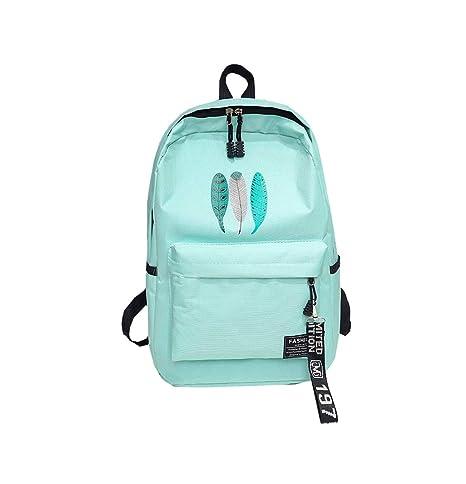 Layxi Mochila Escolar Gran Capacidad Escolar Adolescentes Oxford Mochilas Resistente al Agua Multiusos Backpack Casual Ligero