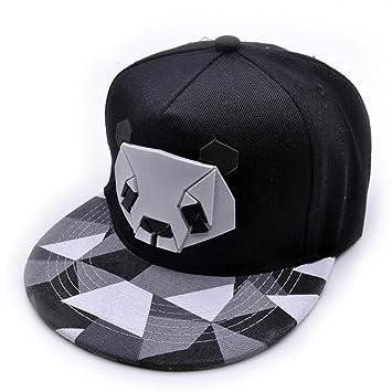 892ead7487407 squarex Women Men Sports Baseball Panda Cap Snapback Golf ball Hip-Hop Hat  (Black