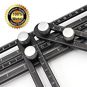 Angleizer Template Tool Universal Angularizer Ruler Premium, Blendx Aluminum + Ss Material Angle Measurement Tool Heavy Duty Handy Angle Template Tool Ruler For Professional User & Diy-er 0