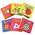 TOP BRIGHT Soft Baby Book Set for Infant Washable Non-Toxic Cloth Crinkle Book Perfect (Pack of 6) by SUN TOP that we recomend individually.