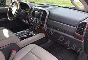 Interior BURL Wood Dash Trim KIT Set for Ford Expedition 2018 2019 2020