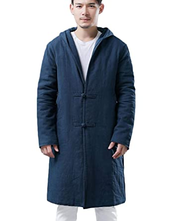 57c7cba6e Men's Hooded Winter Jacket Quilted Coat Traditional Chinese Tang ...