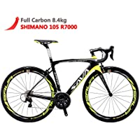 SAVADECK HERD6.0 700C Bicicleta de Carretera de Fibra de Carbono Shimano 105 R7000 22S Sistema de transmisión Michelin Neumático Fizi:k Sillín