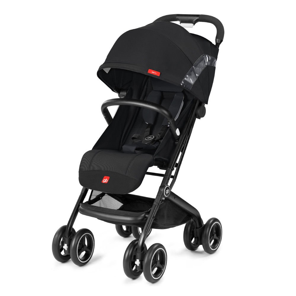 gb 2018 Buggy QBIT+ WITH Bumper Bar ''Satin Black''- from birth up to 17 kg (approx. 4 years) - GoodBaby QBIT PLUS