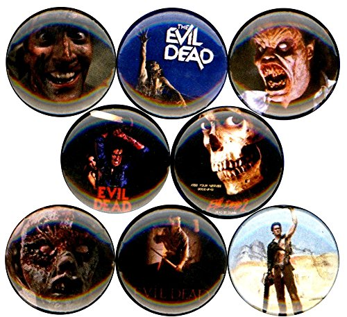 Army Of Darkness Chainsaw Costume (Evil Dead The x 8 NEW 1 inch pins buttons badges 2 horror movies halloween scary)
