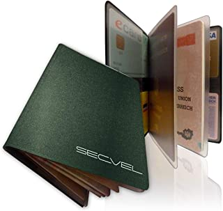 SECVEL Porta passaporto'Comfort' – protezione RFID/NFC & campi magnetici (per 1 passaporto, 4 carte, documenti o banconote) – grigio documenti o banconote) - grigio SECVEL Technologies GmbH