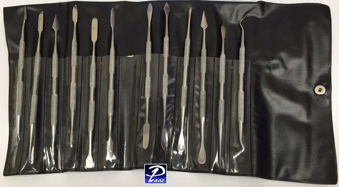 Wax Carving Tools Double Ended Spatulas/Carvers Set of 12 Paaz Jewelry Supply