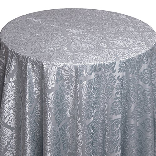 Spa - Damask Contemporary Velvet & Sheer Overlay - 62'' X 62'' Square - Lots Of 5