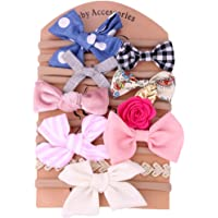 Baby Girl Headbands and Bows Soft Elastic Nylon Infant Headbands Hair Accessories for Newborn Toddler Girls